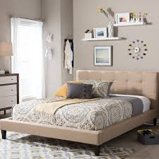 bedroom types of beds with tufted headboard in brown also wall