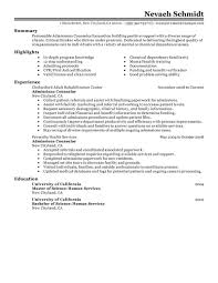 Sample Training Resume by Admission Counselor Resume Free Resume Example And Writing Download