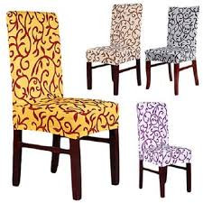 Dining Chair Seat Cover Favorable Elegant Spandex Elastic Stretch Chair Seat Cover