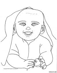 newborn baby coloring pages coloring home