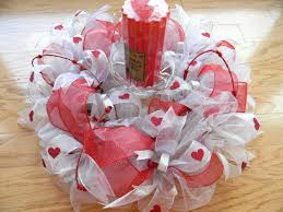 decorations lovely ribbon love craft with red candle for