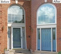 fiber glass door provia heritage oak skin fiberglass door geneva blue paint