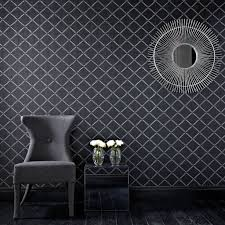 Tile On A Roll Kitchen Wallpaper Quantum Black And Silver Wallpaper Grahambrownus