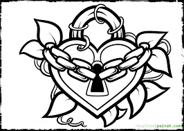 Coloring Pages Hearts Page Of A Heart by Coloring Pages Hearts