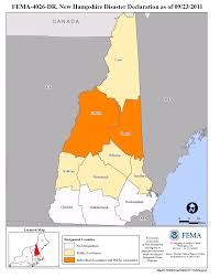 New Hampshire State Map by New Hampshire Tropical Storm Irene Dr 4026 Fema Gov