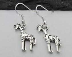 giraffe earrings animal earrings etsy