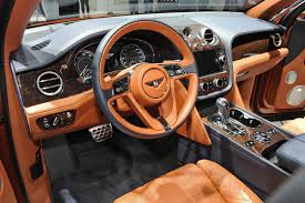 bentley suv 2015 interior bentley u0027s posh bentayga suv rolls out in frankfurt