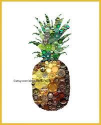 swarovski home decor button art pineapple art swarovski art button u0026 swarovski home