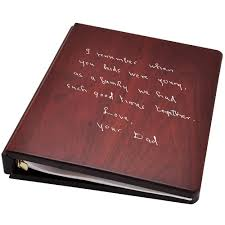 funeral guest book customizable wooden guest book with pages memorial gallery