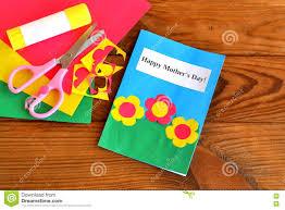 greeting card happy mother u0027s day children crafts scissors glue