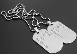 titanium dog tag necklace images Men 39 s military army titanium steel blank double dog tag pendent jpg
