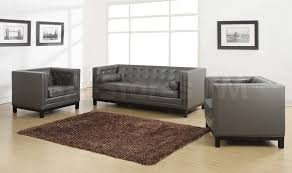 Tufted Leather Sofa Set by Furniture Entranching Tufted Leather Sofa For Living Room