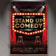 template flyer country free stand up comedy night premium flyer psd template psdmarket