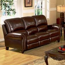 wonderful brown leather match chadwick 2 piece double reclining