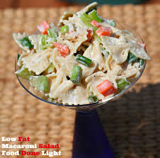 Best Pasta Salad Recipe by Low Fat Macaroni Salad Healthy Low Calorie Food Done Light
