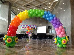 Balloon Decoration Ideas Rainbow Arch Homecaprice Tierra Este