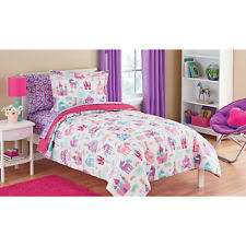 imported 5 piece mainstays kids pretty princess bed in a bag