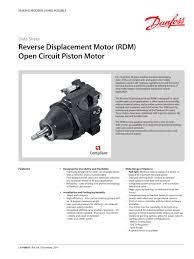 reverse displacement motor rdm sauer danfoss pdf catalogue