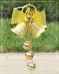 merry christmas decorations tree hanging double bells jingle