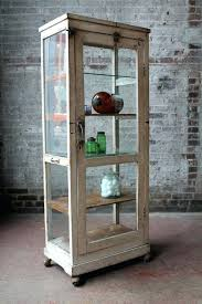 reclaimed wood curio cabinet reclaimed wood curio cabinet sale industrial drugstore cabinet