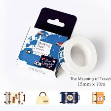 10 meters the meaning of travel fresh style succulent washi tape