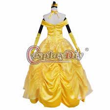 halloween costumes belle beauty beast aliexpress com buy custom made women u0027s yellow dress beauty and