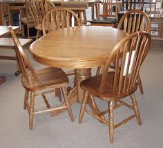 oak table and chairs round oak dining room table decor ideas and showcase intended for