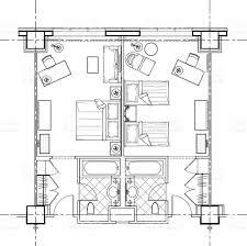 hotel suite floor plans hotel room plan stock vector art 506143984 istock