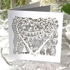 silver wedding anniversary card laser cut card by the hummingbird