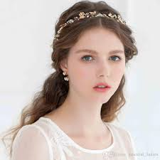 cheap hair accessories 2015 tiaras hair accessories 24k gold plated flower hair