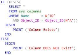 T Sql Drop Table If Exists Oracle Sql U0026 Pl Sql Sql Server Check If Column Exists In A Table