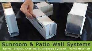 Diy Patio Enclosure Kits by Affordable Sunroom Kits Wall Systems Youtube