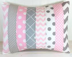 Pink Chevron Crib Bedding Throw Pillow Cover Nursery Cushion Cover Nursery Decor Crib
