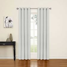 Eclipse Grommet Blackout Curtains Amazon Com Eclipse 14703052084slv Luxor 52 Inch By 84 Inch