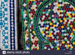 Morocco Design by Close Up Of Mosaic Tiles Morocco Stock Photo Royalty Free Image