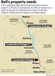 california high speed rail map more than 200 properties condemnation to clear way for high