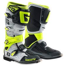 motocross gear sydney motocross boots gaerne 2017 sg12 boots white grey yellow
