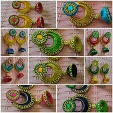 design of earrings silk thread chandbali jhumki earrings silk thread jewellery