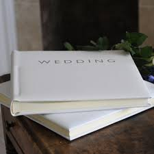 leather wedding album leather pale ivory wedding album