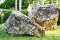 Rock In Garden Big And Rock In Garden And Park Stock Photo Image Of