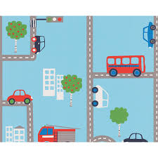 transport and vehicles themed wallpaper u0026 borders bedroom feature