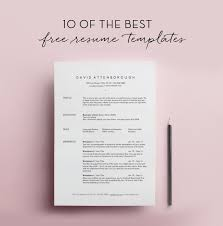 free minimalist resume designs resume template pinterest simple resume template