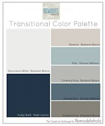 transitional color palette paint colors that are great for mixing