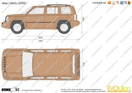 liberty jeep 2009 the blueprints com vector drawing jeep liberty
