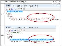 Table Cell Spacing Ie6 7中使用setattribute设置table的cellpadding和cellspacing的bug