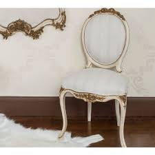 palais ivory u0026 gold french chair bedroom chair