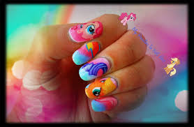 cute my little pony nail art tutorial youtube