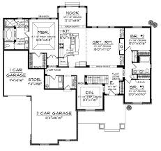 Four Bedroom Bungalow Floor Plan 268 Best House Plans Images On Pinterest Craftsman House Plans