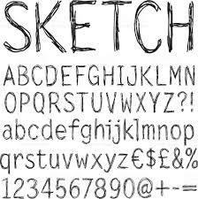 pencil texture handwriting font stock vector art 520773195 istock