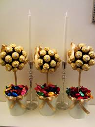 shower centerpiece ferrero rocher trees pops pinterest